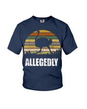 Vintage Retro Allegedly Ostrich T-shirt Youth T-Shirt thumbnail