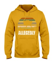 Vintage Retro Allegedly Ostrich T-shirt Hooded Sweatshirt thumbnail