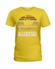 Vintage Retro Allegedly Ostrich T-shirt Ladies T-Shirt thumbnail