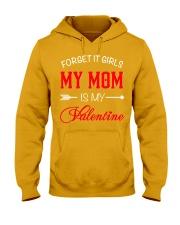 Single Gifts Hug Funny Mom Is My Valenti Hooded Sweatshirt thumbnail