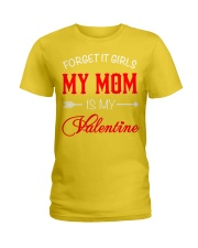 Single Gifts Hug Funny Mom Is My Valenti Ladies T-Shirt thumbnail