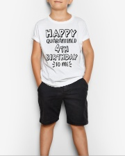 happy quarantined 4th birthday to me Youth T-Shirt lifestyle-youth-tshirt-front-1