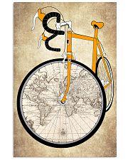 Vintage Poster Bike World Map 11x17 Poster front