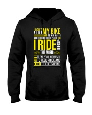 I DON'T RIDE MY BIKE TO WIN  Hooded Sweatshirt thumbnail