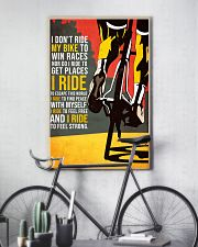 I DON'T RIDE MY BIKE TO WIN  11x17 Poster lifestyle-poster-7