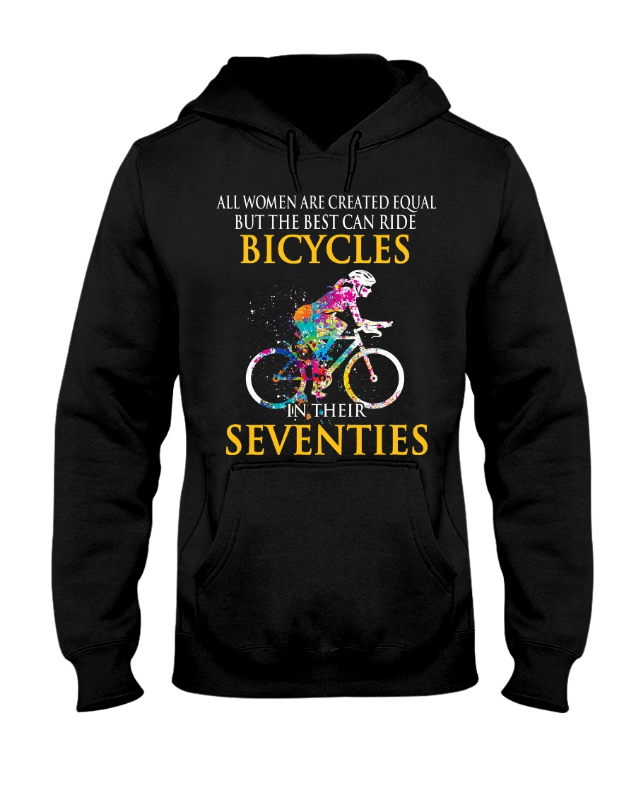 Equal Cycling SEVENTIES Women Shirt - FRONT Hooded Sweatshirt