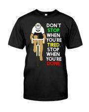 Inspirerende Quote Over Fietsen Classic T-Shirt thumbnail