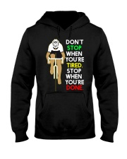 Inspirerende Quote Over Fietsen Hooded Sweatshirt thumbnail