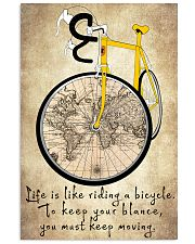Life Is Like Riding A Bicycle 11x17 Poster front
