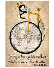 Inspirerende Quote Over Fietsen 11x17 Poster front
