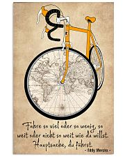 Sprueche Fahrrad Inspiration Motivation 11x17 Poster front