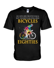 Equal Cycling EIGHTIES Men Shirt - FRONT V-Neck T-Shirt thumbnail