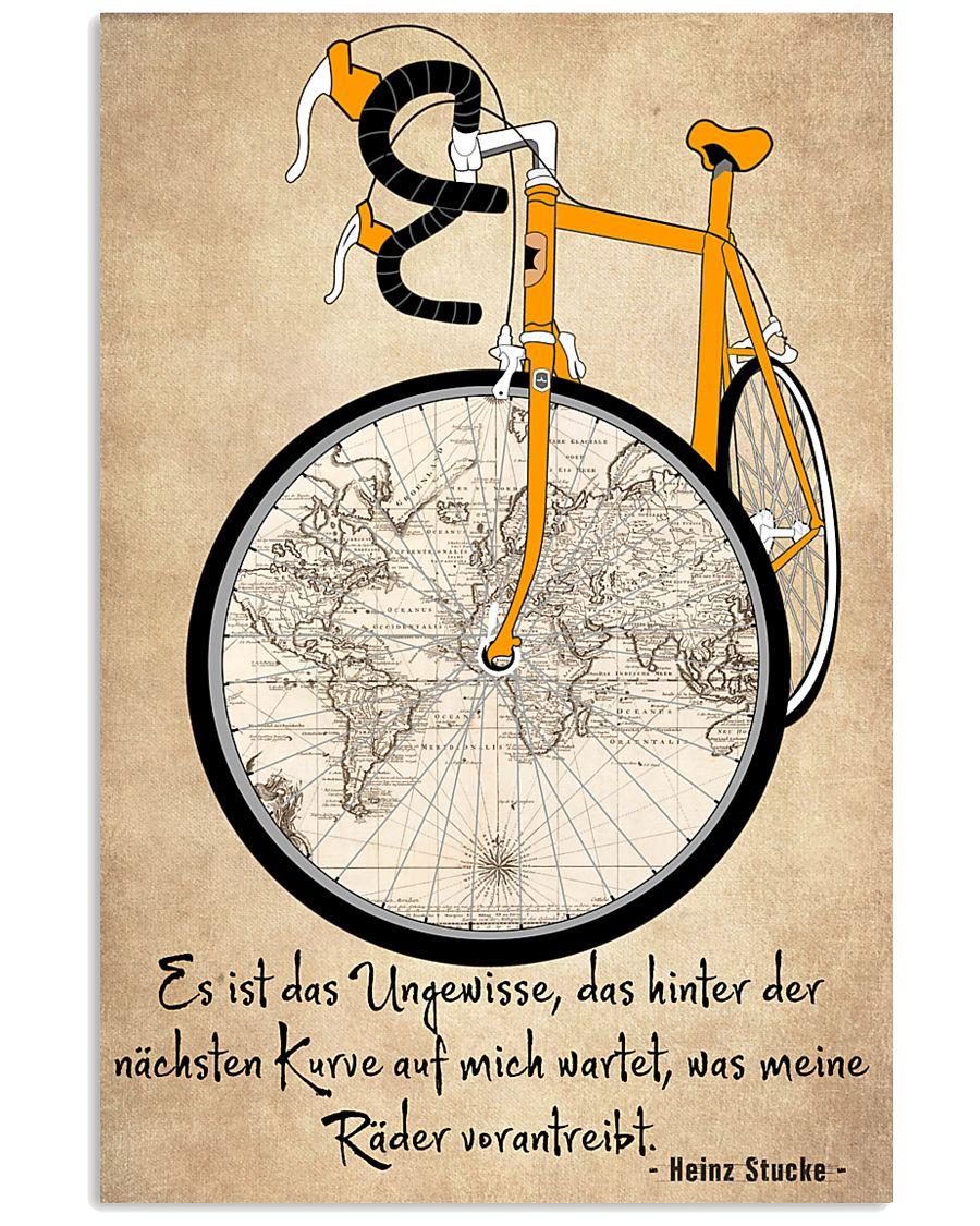 Sprueche Fahrrad Inspiration Motivation 11x17 Poster