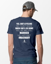 YES-SHE'S CYCLING Classic T-Shirt lifestyle-mens-crewneck-back-6