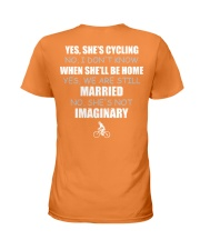 YES-SHE'S CYCLING Ladies T-Shirt thumbnail