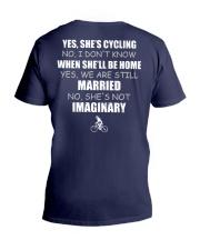 YES-SHE'S CYCLING V-Neck T-Shirt thumbnail