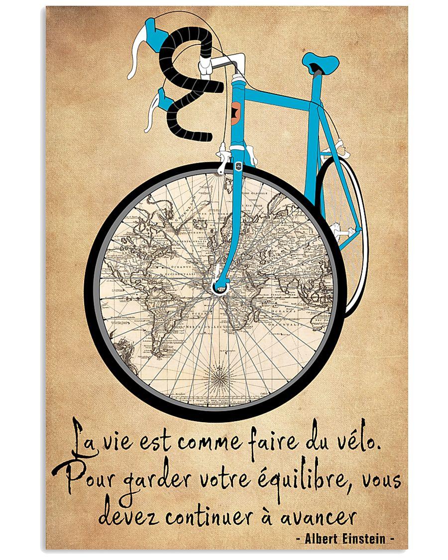 La Vie Est Comme Faire Du Vélo 11x17 Poster