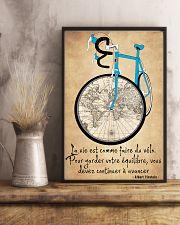 La Vie Est Comme Faire Du Vélo 11x17 Poster lifestyle-poster-3