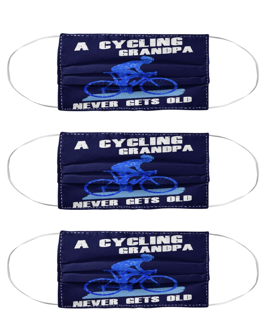 A Cycling Grandpa - Never Gets Old Cloth Face Mask - 3 Pack