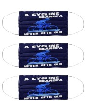 A Cycling Grandpa - Never Gets Old Cloth Face Mask - 3 Pack front