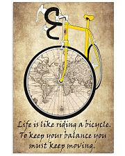 Life Is Like Riding A Bicycle 16x24 Poster front