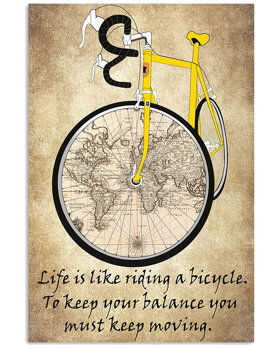 Life Is Like Riding A Bicycle 24x36 Poster