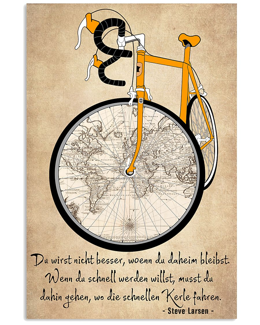 Sprueche Fahrrad Inspiration Motivation 11x17 Poster