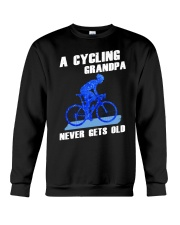 A CYCLING GRANDPA - NEVER GETS OLD Crewneck Sweatshirt thumbnail