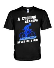 A CYCLING GRANDPA - NEVER GETS OLD V-Neck T-Shirt thumbnail