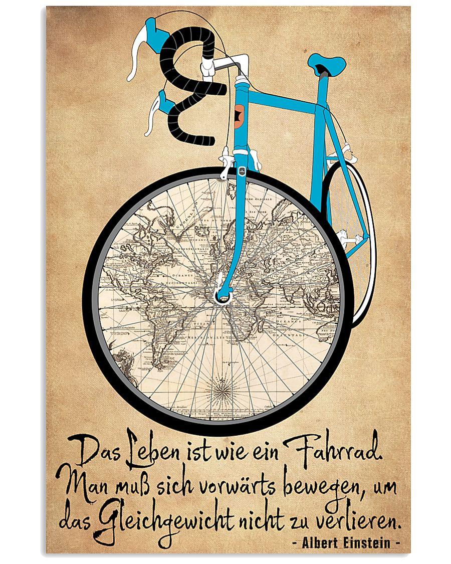 Das Leben ist wie ein Fahrrad 16x24 Poster