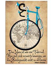Das Leben ist wie ein Fahrrad 16x24 Poster front
