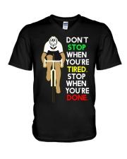 Inspirerende Quote Over Fietsen V-Neck T-Shirt thumbnail