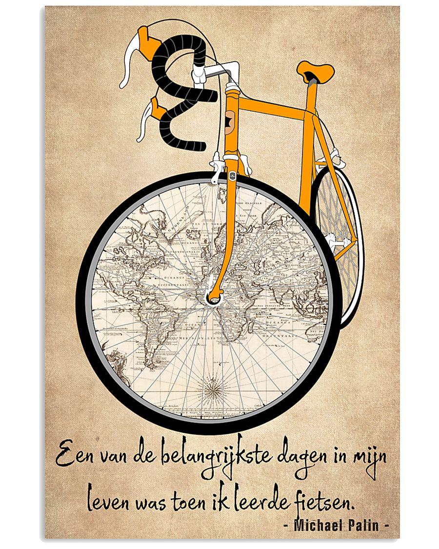 Inspirerende Quote Over Fietsen 11x17 Poster