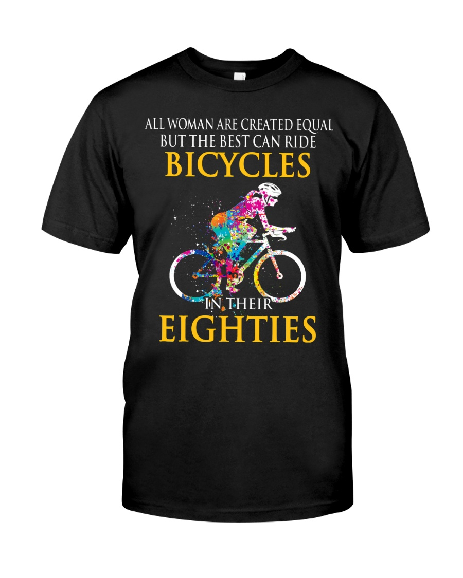 Equal Cycling EIGHTIES Women Shirt - FRONT Premium Fit Mens Tee