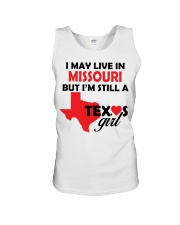 Texas Girl Lives in Missouri Unisex Tank thumbnail