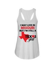 Texas Girl Lives in Missouri Ladies Flowy Tank thumbnail