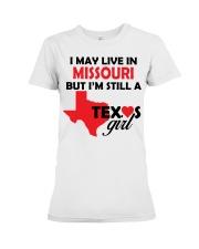 Texas Girl Lives in Missouri Premium Fit Ladies Tee thumbnail