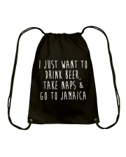Drink Beer Take Naps Go to Jamaica Drawstring Bag tile