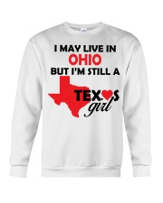 Texas Girl Lives in Ohio Crewneck Sweatshirt thumbnail