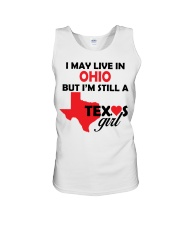 Texas Girl Lives in Ohio Unisex Tank thumbnail