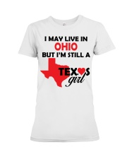 Texas Girl Lives in Ohio Premium Fit Ladies Tee thumbnail