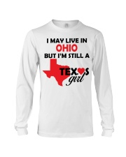 Texas Girl Lives in Ohio Long Sleeve Tee thumbnail