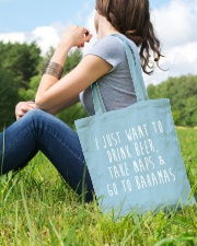 Drink Beer Take Naps Go to Bahamas Tote Bag lifestyle-totebag-front-6