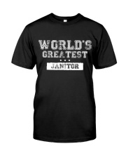 World's Greatest Janitor Classic T-Shirt front