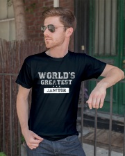 World's Greatest Janitor Classic T-Shirt lifestyle-mens-crewneck-front-2