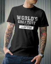 World's Greatest Janitor Classic T-Shirt lifestyle-mens-crewneck-front-6
