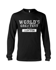 World's Greatest Janitor Long Sleeve Tee thumbnail
