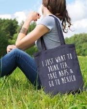Drink Tea Take Naps Go to Mexico Tote Bag lifestyle-totebag-front-6