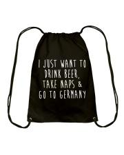 Drink Beer Take Naps Go to Germany Drawstring Bag thumbnail