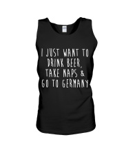 Drink Beer Take Naps Go to Germany Unisex Tank thumbnail